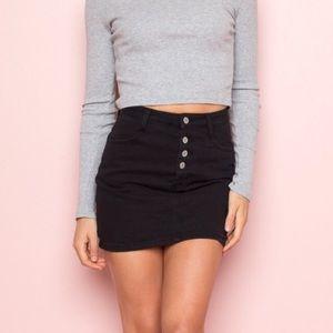 🌈 Brandy Melville black denim skirt